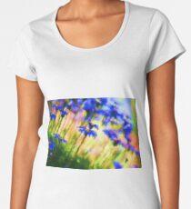 Painted Glass Flowers Women's Premium T-Shirt