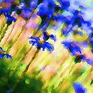 Painted Glass Flowers by Joy Watson