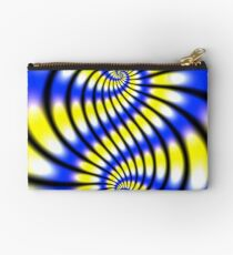 Double Spiral Yellow Blue Studio Pouch