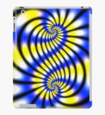 Double Spiral Yellow Blue iPad Case/Skin
