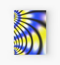 Double Spiral Yellow Blue Hardcover Journal