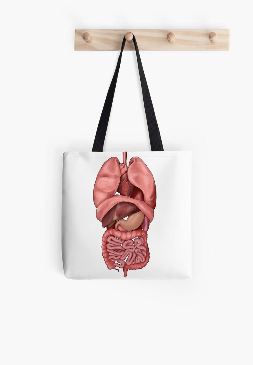 Bolsas de tela «Órganos internos» de Colin Wells   Redbubble
