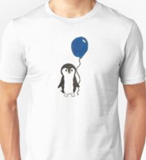 Cute Penguin with Blue Balloon Unisex T-Shirt