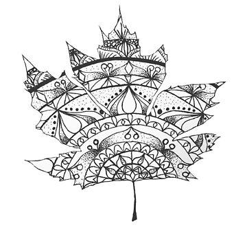 Maple Mandala by CraftyRedFox