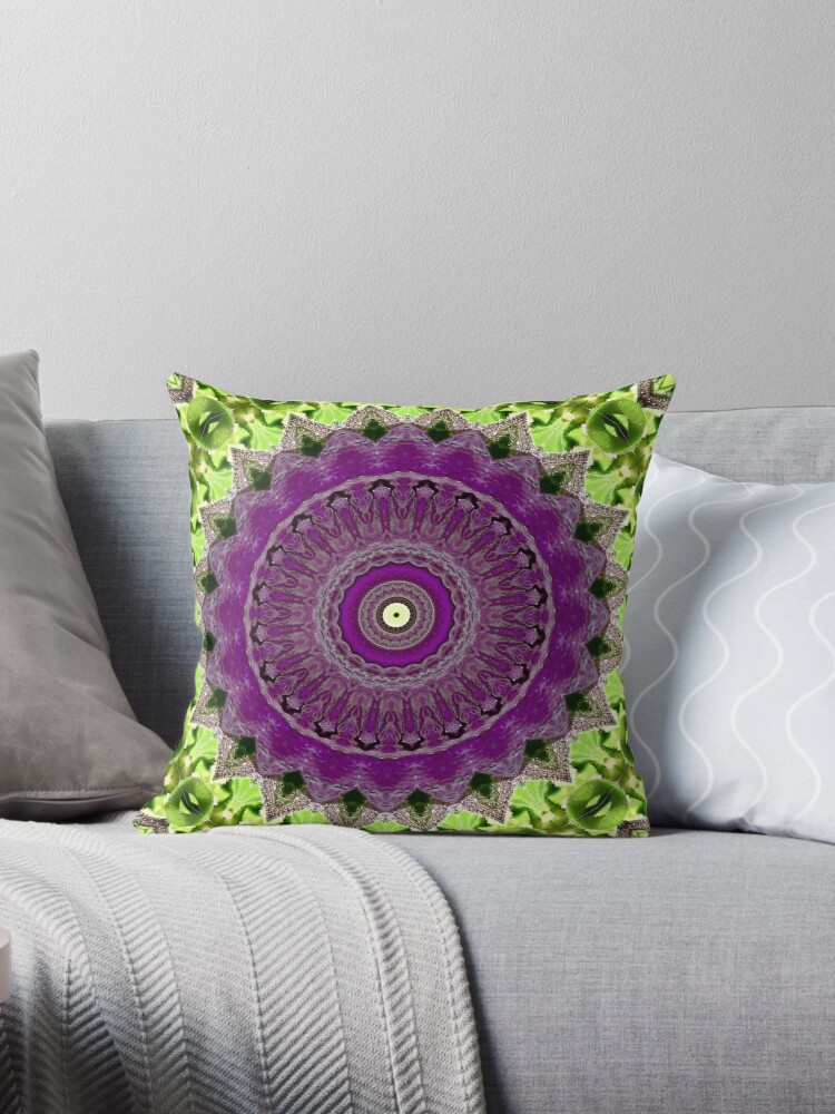 Purple dew mandala. by MarilynBaldey7