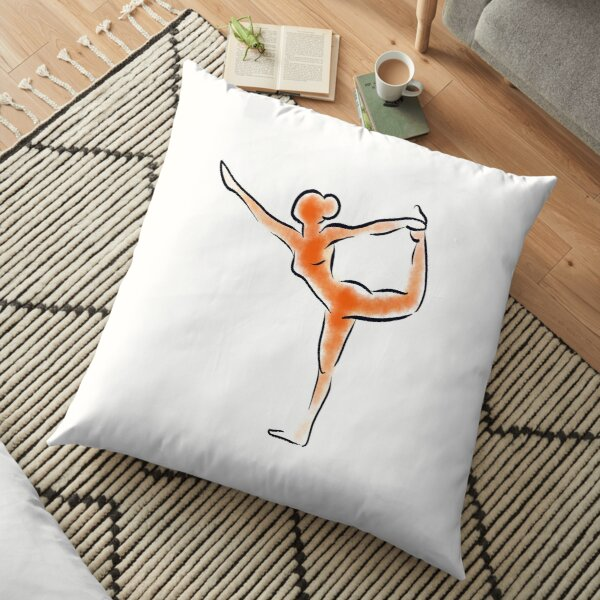 Natarajasana Yoga Pose Floor Pillow