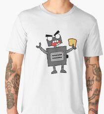 angry zombie robot toaster Men's Premium T-Shirt