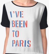 I've Been To Paris Shirt Chiffon Top
