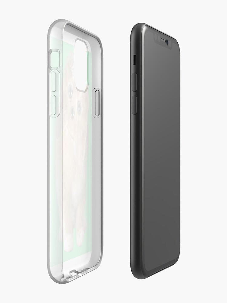 Coque iPhone «Minou», par mattyboyfresh