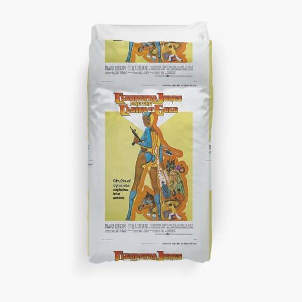 Cleopatra Jones and The Casino of Gold (Blue) Duvet Cover