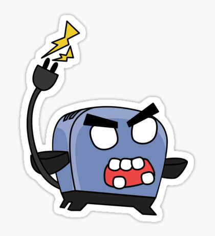 angry zombie toaster Sticker