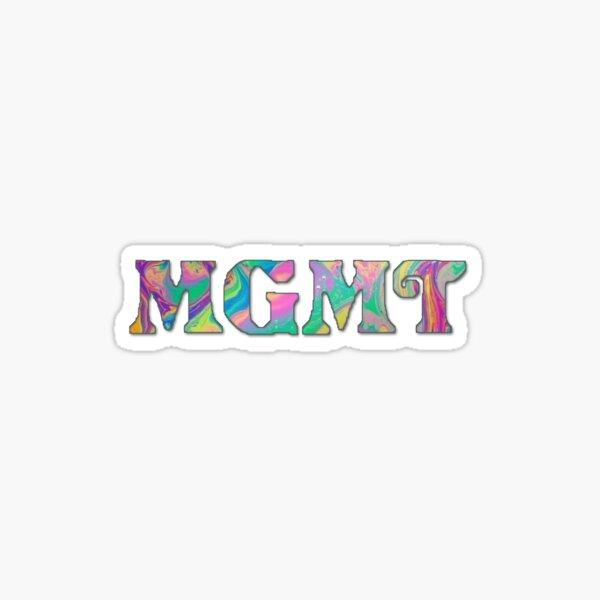 logotipo de mgmt rainbow Pegatina