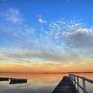 Dusk on Tuggerah Lake by Mike Salway