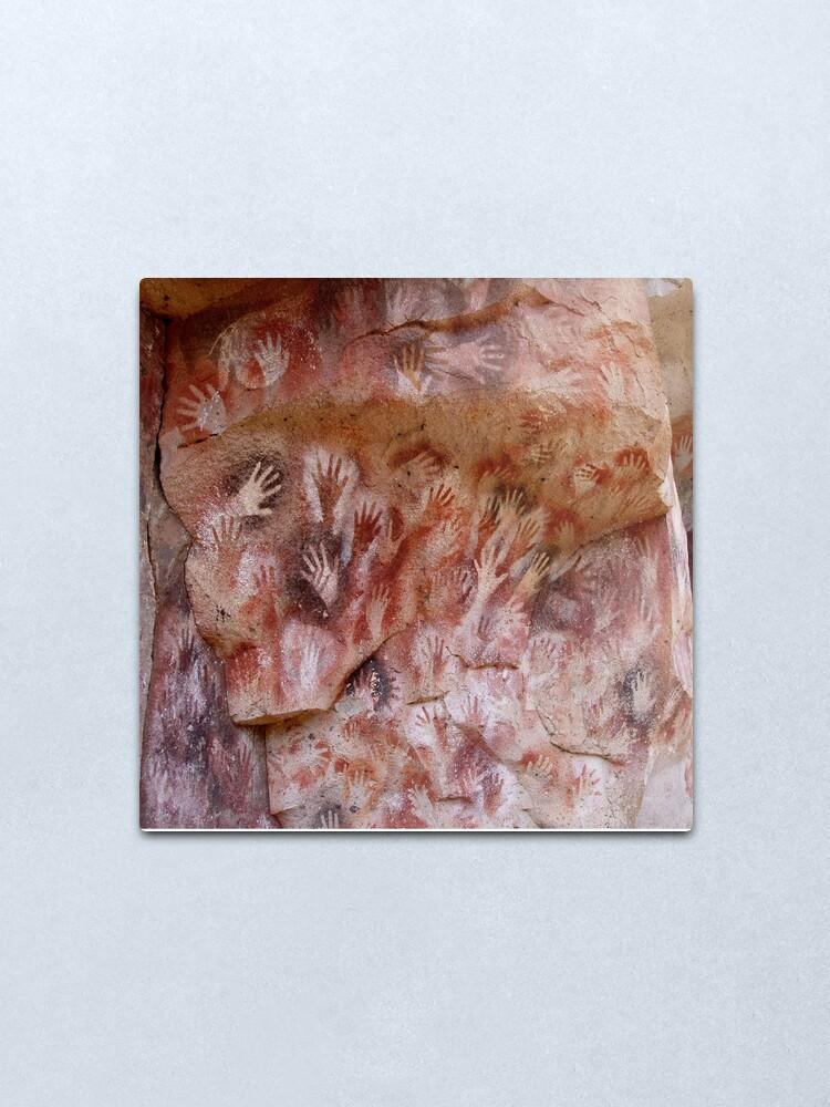 Alternate view of #Cave #painting, #parietal #art, paleolithic cave paintings Metal Print