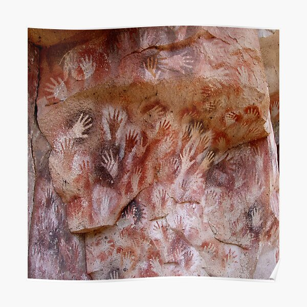 #Cave #painting, #parietal #art, paleolithic cave paintings Poster