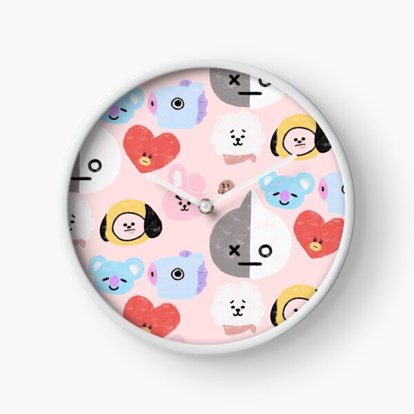 BTS21 Line Character- In Pastel! Clock