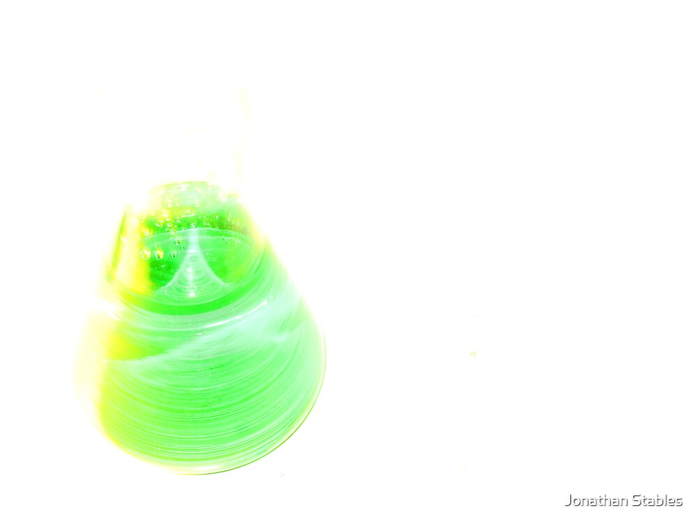 Green flask by Jonathan Stables