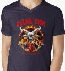 Celine Dion Heavy Metal Men's V-Neck T-Shirt
