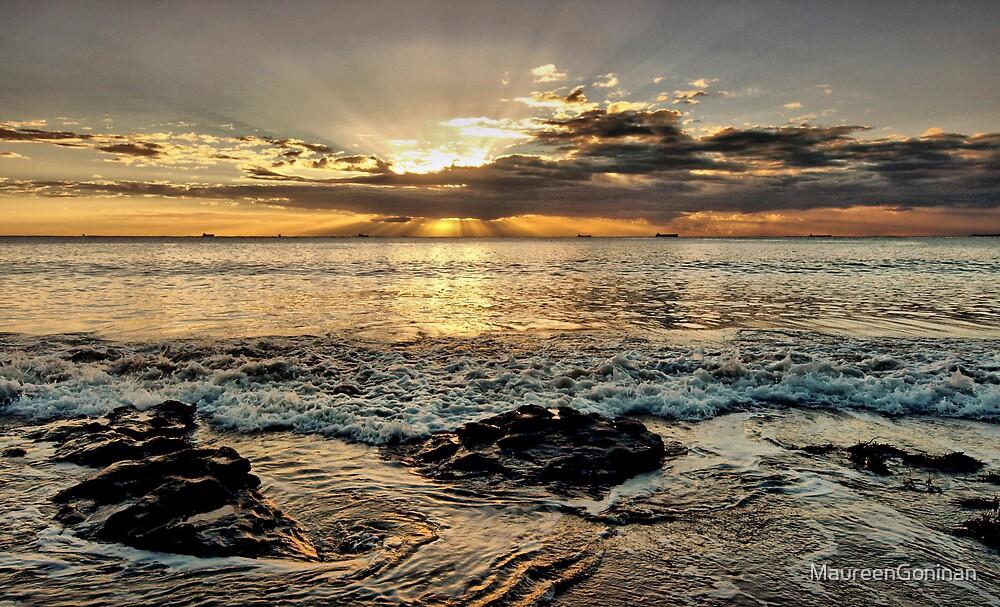 Golden sunset by MaureenGoninan