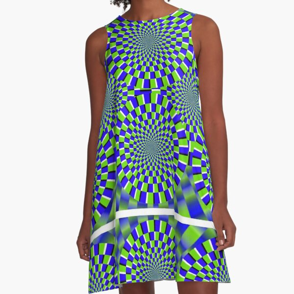 Optical Illusion, visual illusion, #Optical, #Illusion, #visual, #OpticalIllusion, #visualillusion A-Line Dress