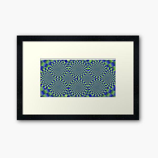 Optical Illusion, visual illusion, #Optical, #Illusion, #visual, #OpticalIllusion, #visualillusion Framed Art Print