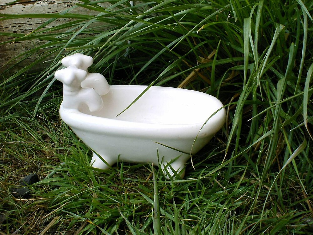 lil claw foot tub soapdish by boondockMabel