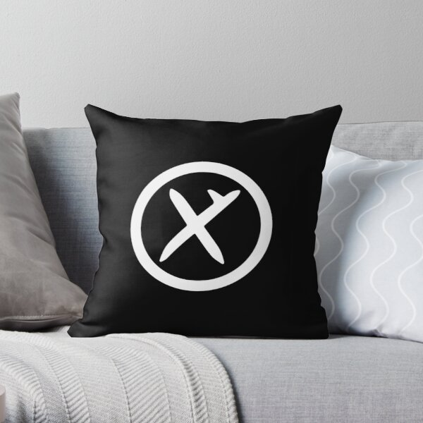 Hooked Cross (in white) Throw Pillow