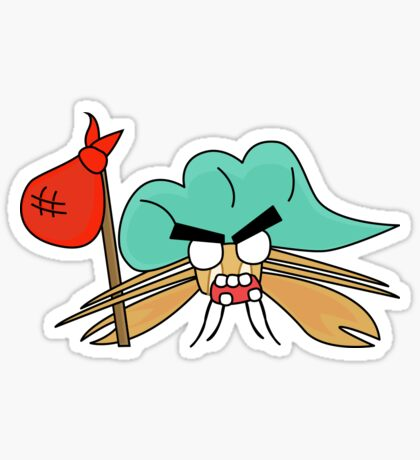 angry zombie hermit crab Sticker