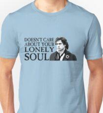 Camiseta ajustada ¿A quién le importa tu alma solitaria?