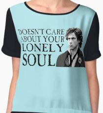 Who Cares About Your Lonely Soul?  Chiffon Top