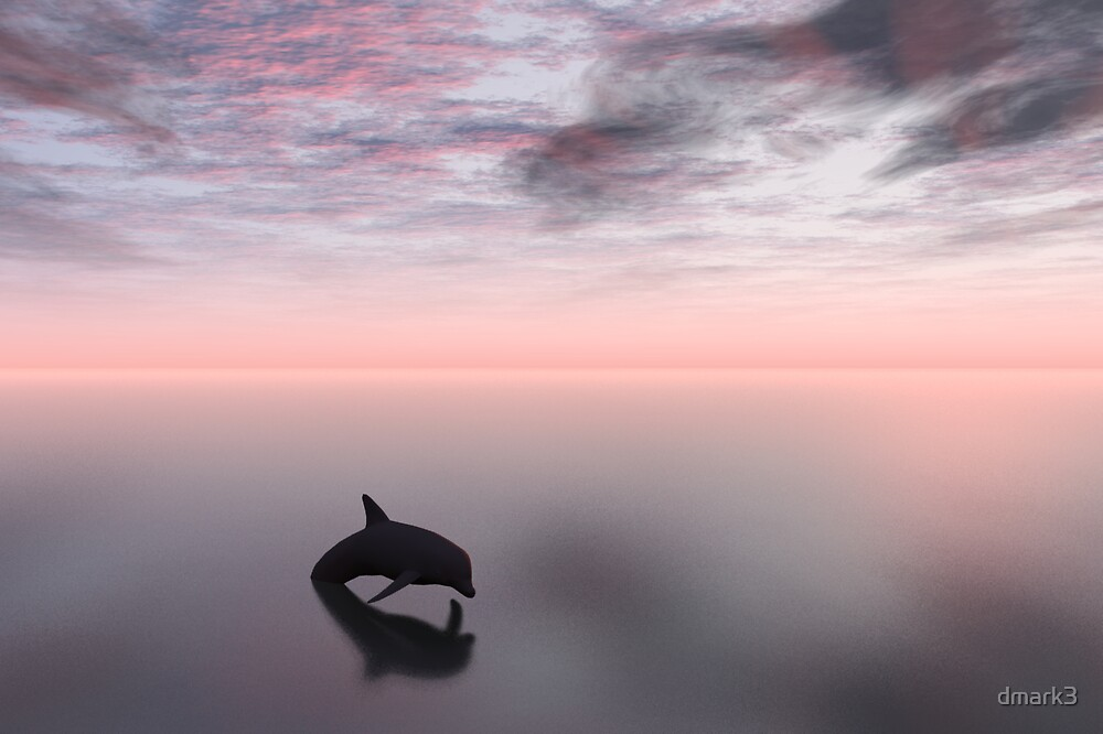Dolphin and Sea by dmark3