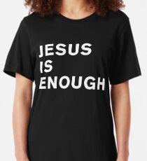 Hipster Christian Jesus Is Enough Faith T Shirt Slim Fit T-Shirt