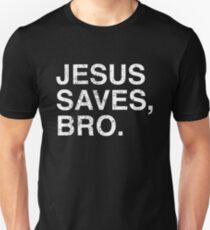 Hipster Christian Jesus Saves Bro Faith Based Shirt Slim Fit T-Shirt