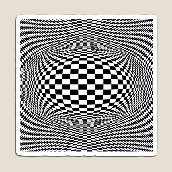 Optical Illusion, Visual Illusion, Cognitive Illusions Magnet