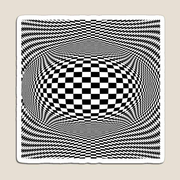 Optical Illusion, Visual Illusion, Cognitive Illusions Magnet