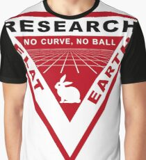 RESEARCH FLAT EARTH PERSPECTIVE GRID PATCH Graphic T-Shirt