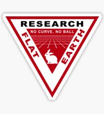 RESEARCH FLAT EARTH PERSPECTIVE GRID PATCH Sticker