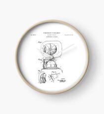 Fireman Patent Drawing Blueprint Clock