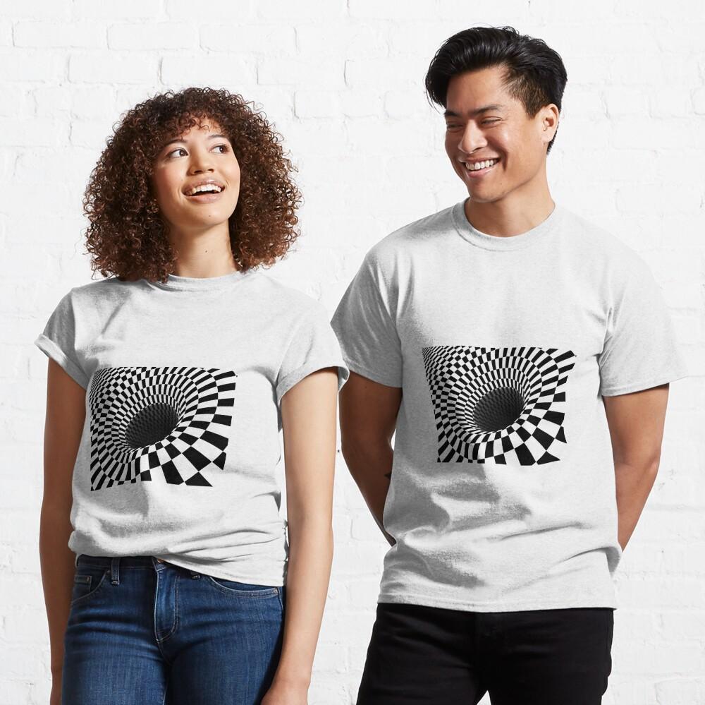 Optical Illusion, Visual Illusion,  Cognitive Illusions, #OpticalIllusion, #VisualIllusion,  #CognitiveIllusions, #Optical, #Illusion, #Visual, #Cognitive, #Illusions Classic T-Shirt