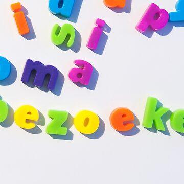 Fridge magnet letters spell oma bezoeken by stuwdamdorp