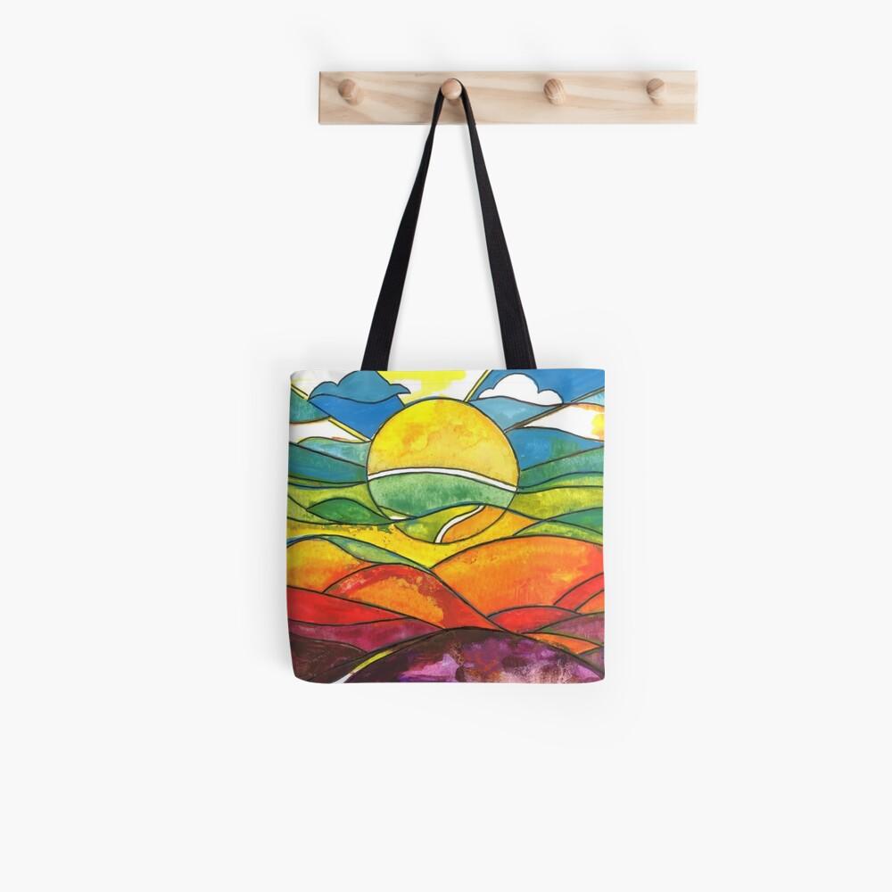 Colourful sunrise Tote Bag