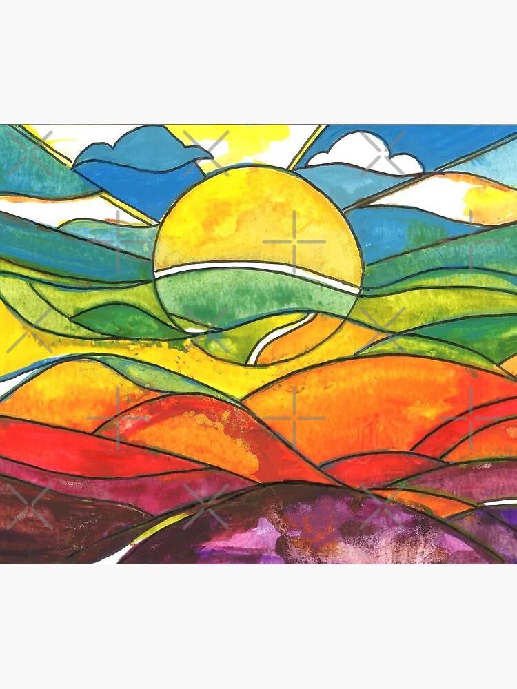 Colourful sunrise by milesdesignart