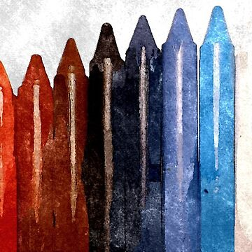 Water Color Crayons by chakragyspsy