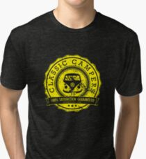 Retro Badge Yellow Classic Grunge Tri-blend T-Shirt