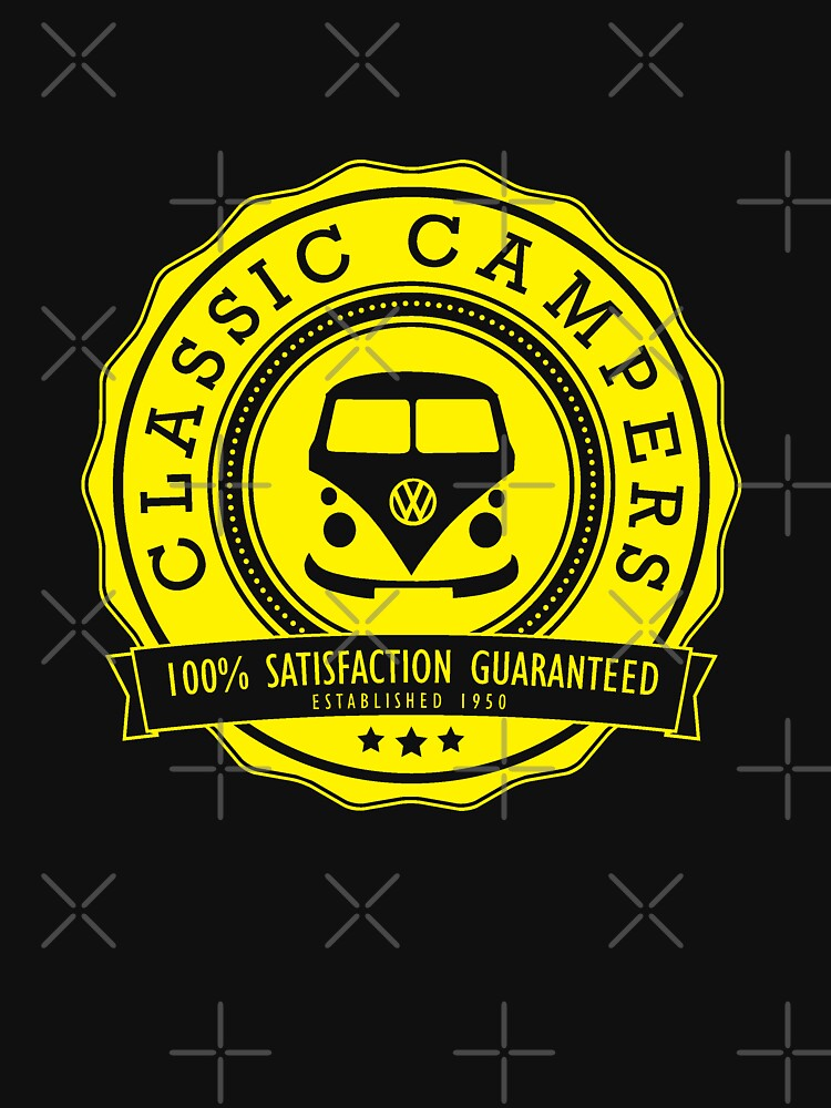 Retro Badge Yellow Classic by splashgti