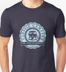 Retro Badge Pale Blue Classic Grunge Unisex T-Shirt