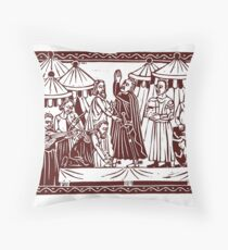 Knighthood Ceremony Throw Pillow