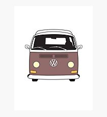 EB Camper Front Brown Photographic Print