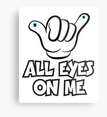 All Eyes on Me Graphic Design Metal Print
