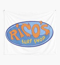 "Hannah Montana ""Rico's Surf Shop"" Logo Tapestry"
